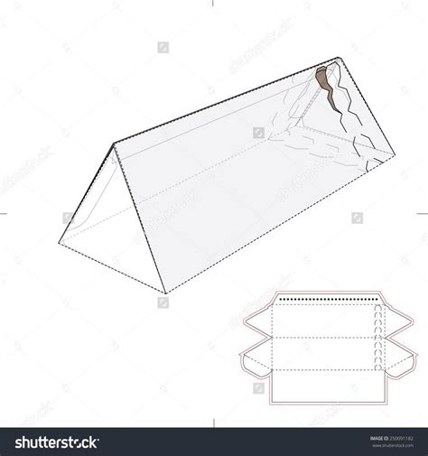 templates for triangle boxes triangular tube box with zipper seal and die cut template