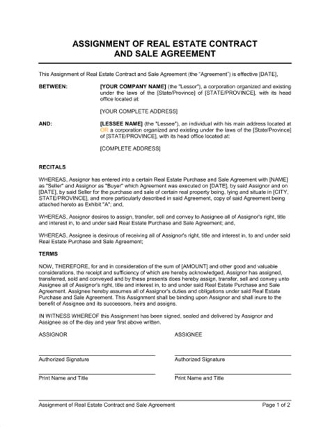real estate sales contract template template design