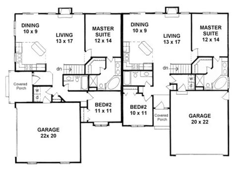 Corner Lot Duplex Plans by Duplex House Plans