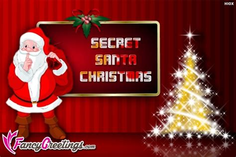 secret santa  secret santa christmas cards