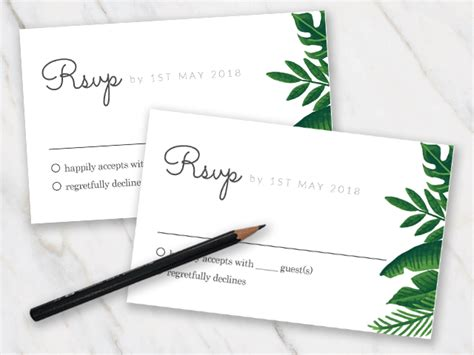 Wedding Rsvp Template Free 50 Best Templates