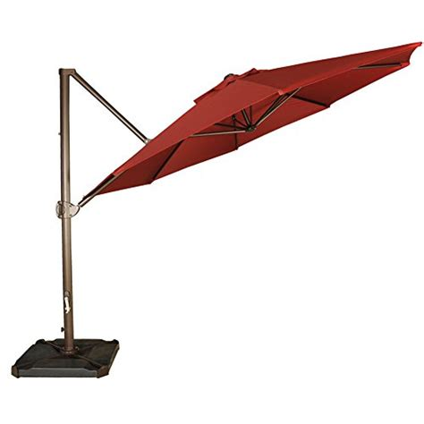 11 Offset Patio Umbrella Abba Patio 11 Offset Cantilever Umbrella Outdoor Patio Hanging Umbrella Ebay