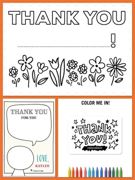 thank you letter to child s color in thank you notes children s stationery