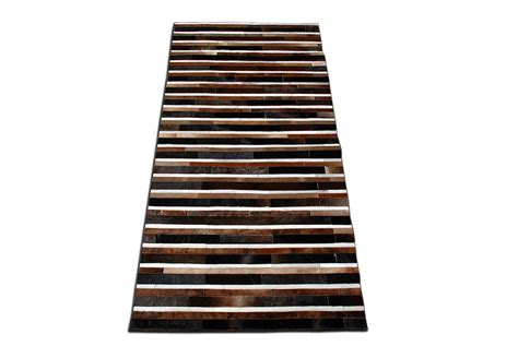 Brown And White Striped Rug by Black Brown And White Striped Patchwork Cowhide Rug No