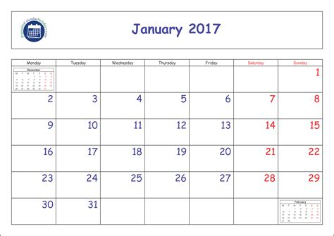 january 2017 calendar printable with holidays weekly printable january 2017 calendar printable 2017 calendar