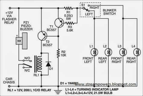 build a faulty car indicator alarm circuit diagram