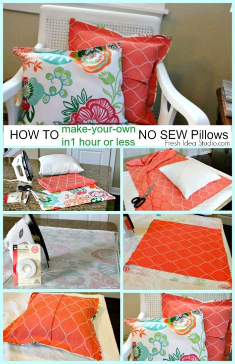 6 no sew pillow cover diy decorating tips that ll