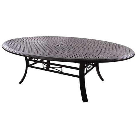 Darlee Series 99 Cast Aluminum 69 X 98 Inch Oval Outdoor Oval Cast Aluminum Patio Table