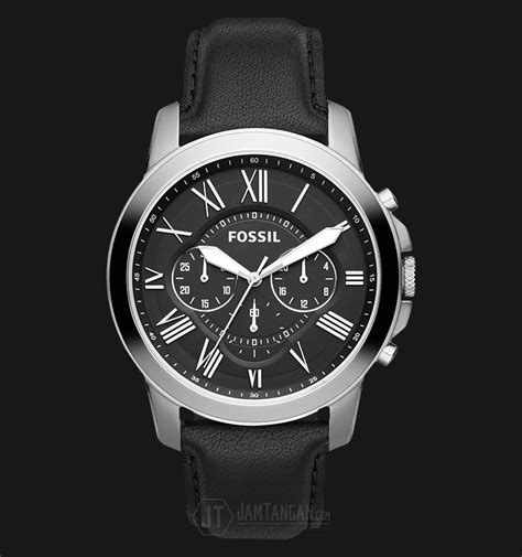 Jam Tangan Jonas Date Original fossil fs4812 grant chronograph black leather