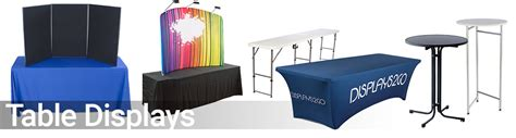 table banners for trade shows trade displays supplies booths banners table