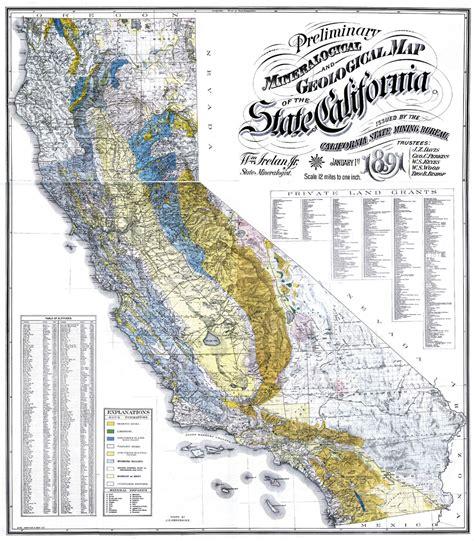 california map history cgs history geologic maps of california