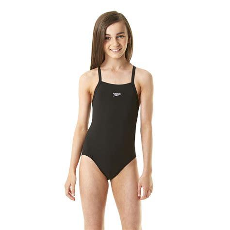 speedo girl swimsuit speedo endurance solid rippleback girls swimsuit