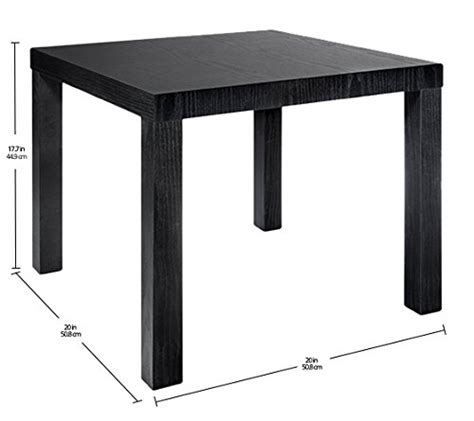 dhp parsons modern coffee table dhp parsons modern end table black wood grain desertcart