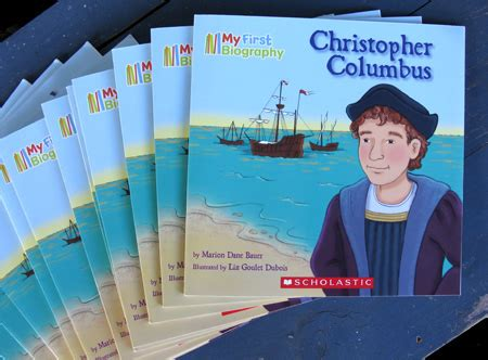my first biography christopher columbus marion dane bauer new book christopher columbus liz goulet dubois