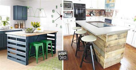 fabriquer un ilot de cuisine en bois un plan de table mariage en palettes 20 id 233 es inspirez