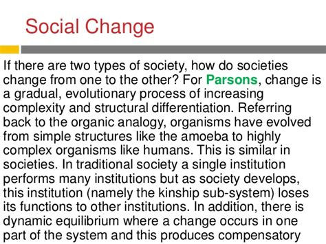 parsons pattern variables modern traditional societies functionalism society