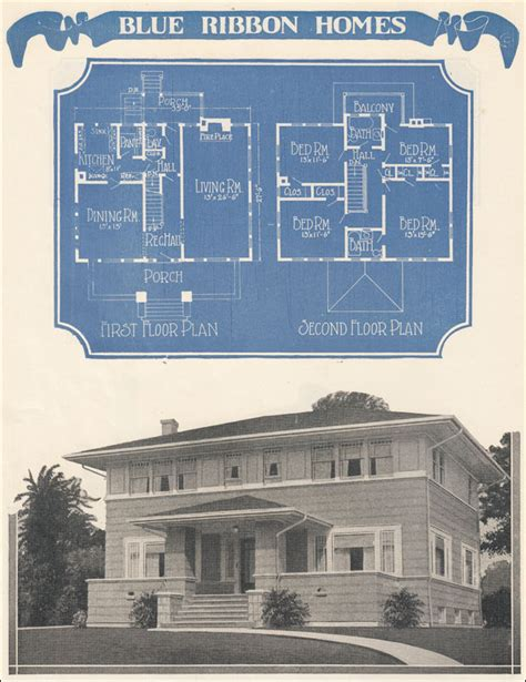 foursquare prairie box plan 1924 radford s blue ribbon
