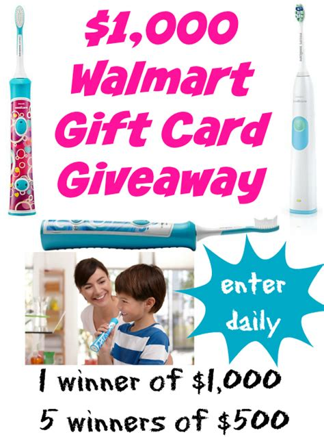 Walmart 1000 00 Gift Card Giveaway - 1 000 walmart gift card giveaway sonicaresmiles for the holiday