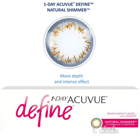 define day acuvue 1 day define shimmer 30 pack daily lenses