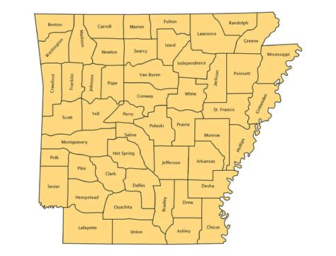 arkansas county map pin arkansas county map with names on