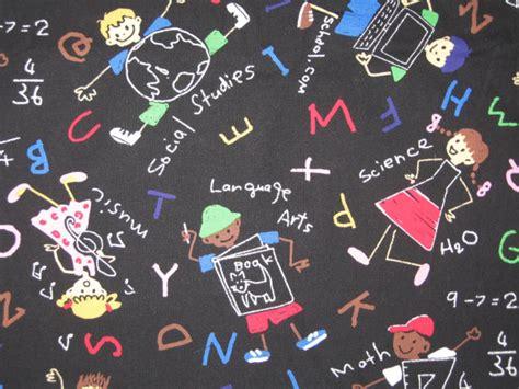 school for upholstery michael miller chalk art back to school fabric 1 yard 25