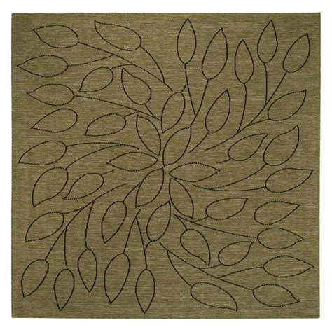 Black And Green Area Rugs by Home Decorators Collection Persimmon Green Black 7 Ft 6 In Square Area Rug 4248643610 The