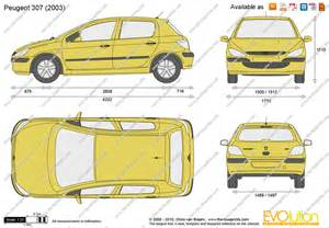 Peugeot 307 Length The Blueprints Vector Drawing Peugeot 307