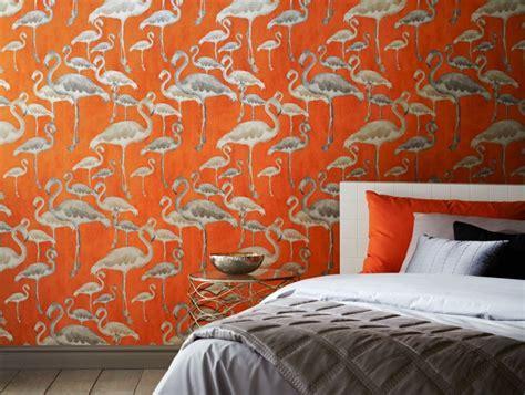 flamingo wallpaper walls flamingo beach calypso designer wallpaper