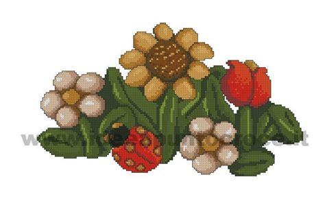 fiori thun fiori thun punto croce bordados cross