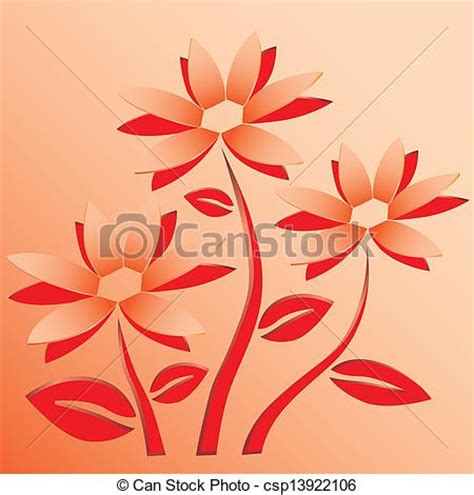 Wall Mural Pricing vector clipart of flower cut out of paper vector