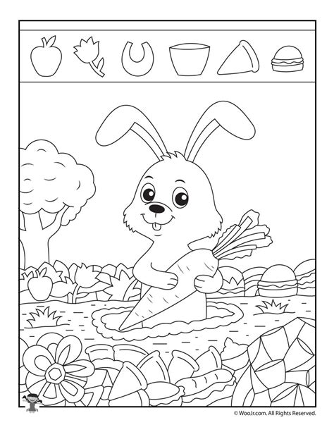 printable hidden pictures animals rabbit hidden picture puzzle woo jr kids activities