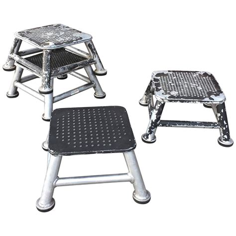 industrial aluminum station step stools for sale at