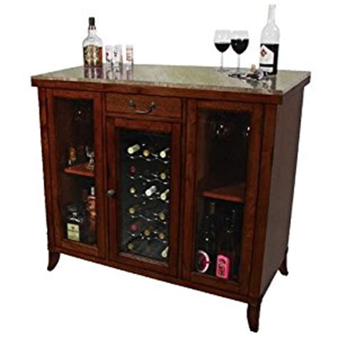 Granite Top Bar Cabinet by Cherry Wine Cooler Wine Cabinet Bar Wood