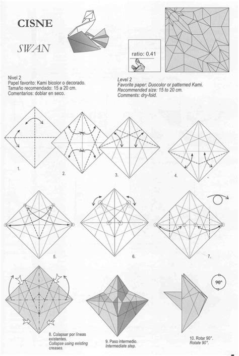 Origami Pages - free coloring pages swan origami by diaz origami