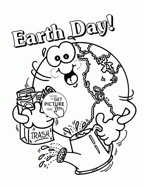 earth day coloring pages for kindergarten happy earth earth day coloring page for kids coloring
