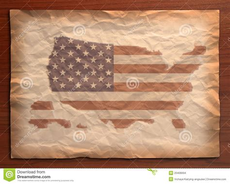 Map Craft Paper - vintage usa map on paper craft stock images image 20406694