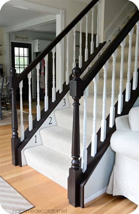 Staining Banister by 25 Best Ideas About Banister Remodel On