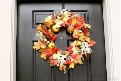 How To Make Wreaths For Front Door How To Make An Easy Wreath Fall Front Door Wreath Decorchick