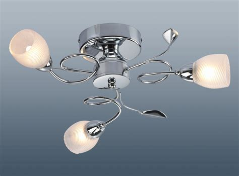 ceiling light 3 arm matching 3 arm leaf twist ceiling l light fitting glass lshade chrome g9 bulbs new ebay