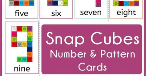 Number Pattern Cards | snap cubes number and pattern cards math patterns and