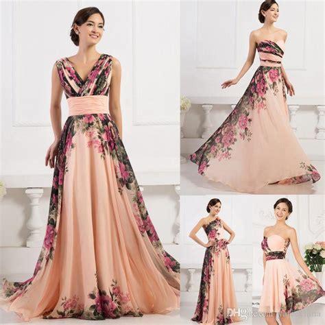 Bridesmaid Dress Material Names - grace karin floral chiffon dress bridesmaid