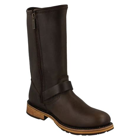 mens leather motorcycle boots for sale mens harley davidson leather motorcycle biker style boots clint ebay