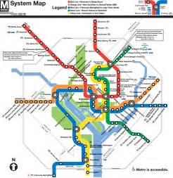 Subway Map Dc by Washington Dc Subway Map Metro Mapsof Net