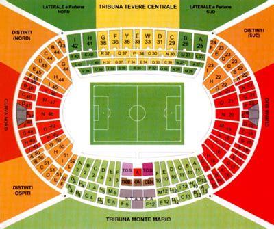 posti a sedere olimpico di roma stadio olimpico
