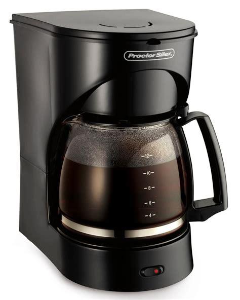 Coffee Maker Non Elektrik proctor silex 12 cup coffee maker black