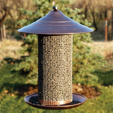 shop woodlink metal tube bird feeder at lowes com