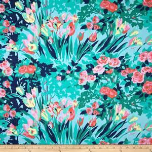 Amy Butler Home Decor Fabric Amy Butler Violette Home Decor Sateen Meadow Blooms Sky