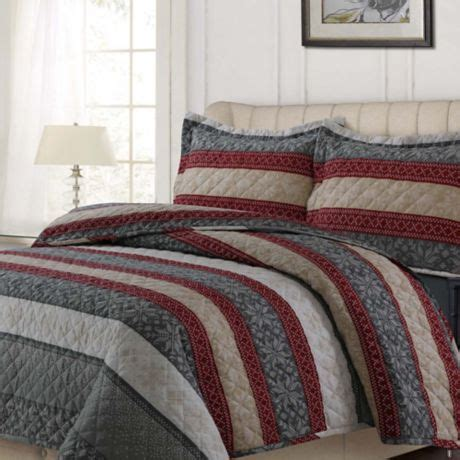 Bed Bath And Beyond Alpine by Tribeca Living Alpine Knit Flannel Quilt Set Bed Bath