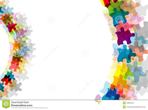 abstract puzzle background eps10 royalty free stock