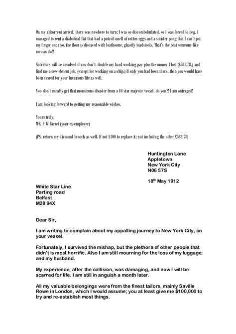 Rent Complaint Letter Sle Whole Class Of Letters Complaint Nov2014